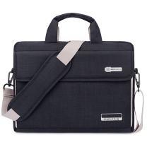 Brinch Unisex Oxford Laptop Sleeve Messenger Shoulder Bag for 15 - 15.6-Inch Laptop / Notebook / MacBook / Ultrabook / Chromebook Computers (Black)
