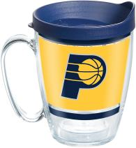 Tervis NBA Indiana Pacers Legend Tumbler with Wrap and Navy Lid 16oz Mug, Clear