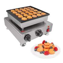 ALDKitchen Mini Pancakes Maker | Stainless Steel Electric Poffertjes Machine for 25 Heart-Shaped Dutch Pancakes | 110V (0.8kW)