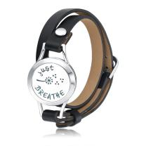 Mesinya Custom Jewelry Stainless Steel Aromatherapy Essential Oils Diffuser Locket Breathe Bracelet