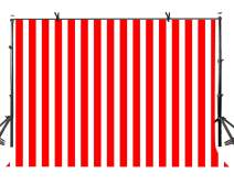 LYLYCTY 7x5 Birthady Backdrop Movie Theater Themed Party Decorations Hollywood Big Top Circus Theme Party Supplies Banner Red and White Striped Background LYZY0503