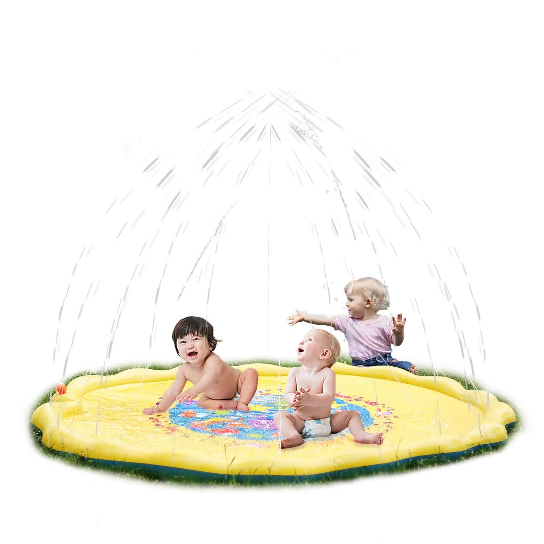 SainSmart Jr. Kids Water Splash Mat Outdoor Sprinkler Pad for Yard, Toddlers Big Outside Summer Toy Water Spraying Games