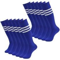 Getspor Soccer Socks, Unisex Team Sports Football Long Tube Knee High Socks 12 Pcs