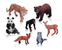 Ericoo Animal Toys Set Figurines Educational Resource Hand Painting Jungle Animals Figures for Toddler with CPC Approval and ASTM Test-Anim001