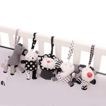 SHILOH Baby Crib Stroller Carseat Decoration 5PCS White & Black (Zoo Animals)