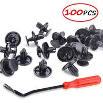 Angooni 100PCS Car Retainer Clips for Lexus Toyota, Replacement Fasteners with Fastener Remover Tool - Stronger Than Original OEM