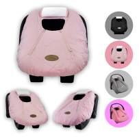 Cozy Cover Infant Car Seat Cover (Pink Quilt) - The Industry Leading Infant Carrier Cover Trusted by Over 6 Million Moms Worldwide for Keeping Your Baby Cozy & Warm
