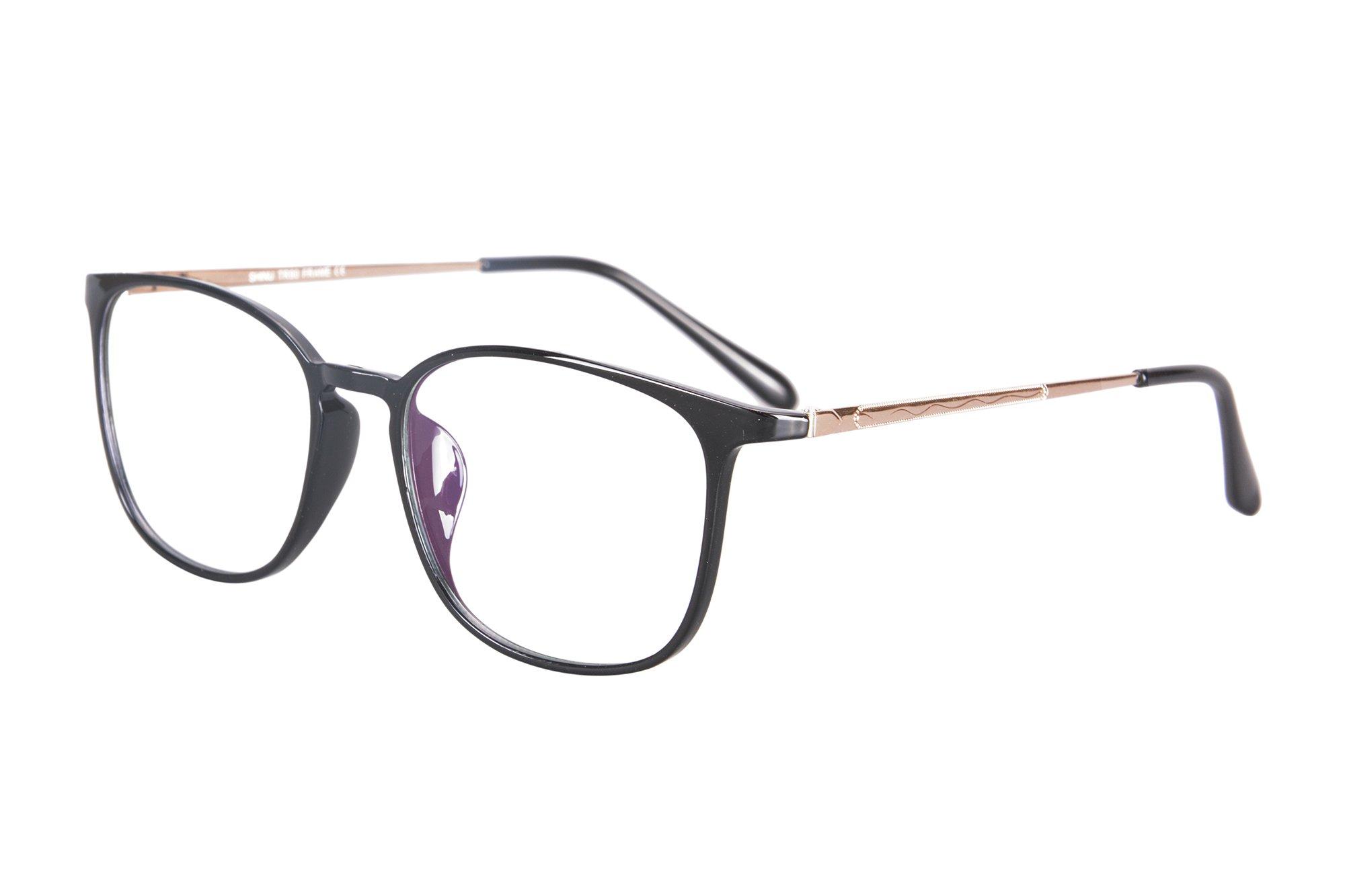 SHINU TR90/Metal Lightweight Frame Progressive Multifocus Anti-Blue Light Reading Glasses-SH022