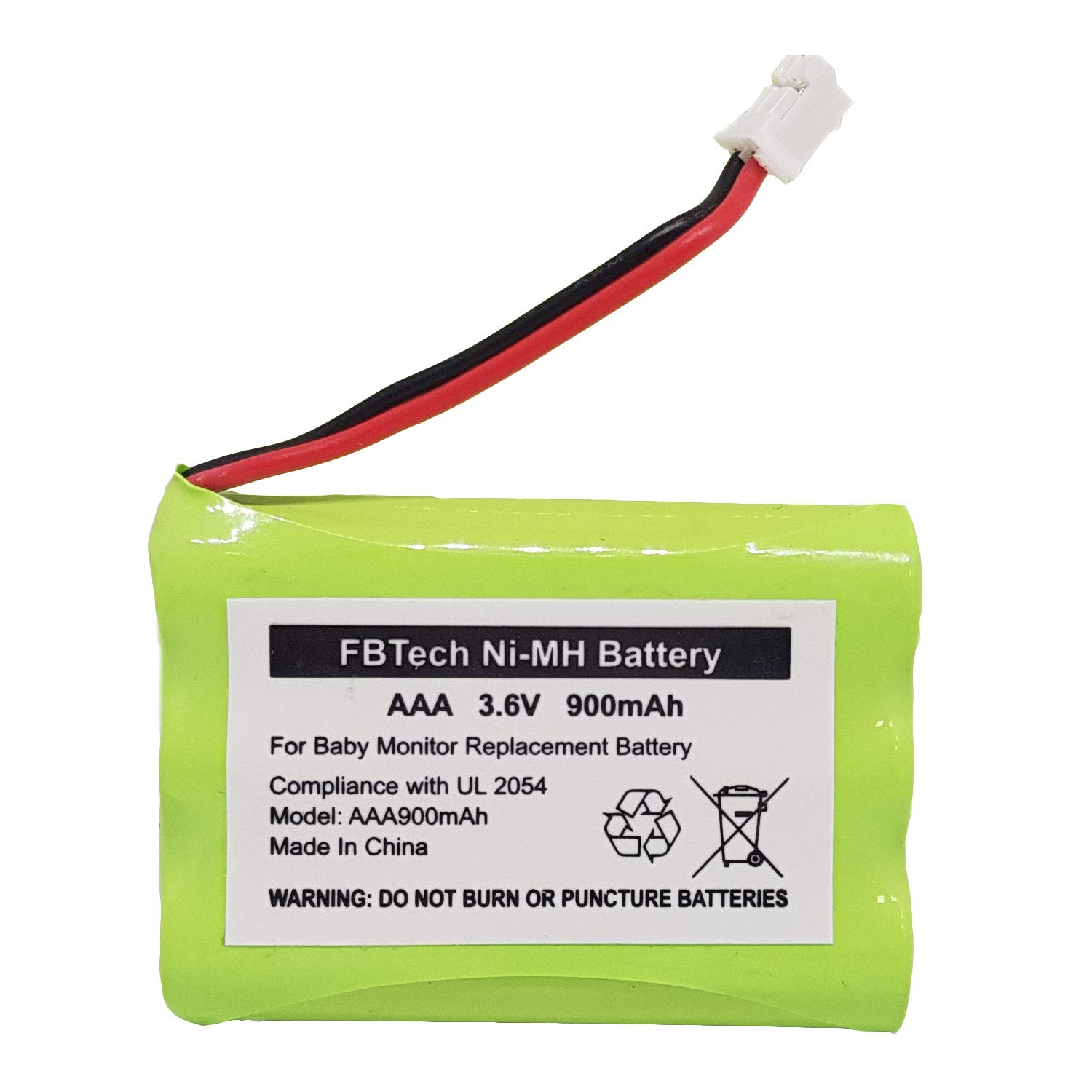 900mAh Replacement Battery for Motorola Baby Monitor 3.6V Ni-MH Battery MBP18 MBP26 MBP27T MBP33 MBP36 MBP41 MBP43 MBP622 MBP667CONNECT MBP668 MBP843 MBP853CONNECT, Not Compatible with MBP36S