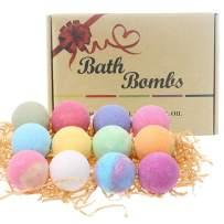 Bath Bombs Gift Set Anself 12pcs Multi-color Spa Essential Oils Bath Bomb Kit Body Cleaner Moisturizing Dry Skin Aromatic Odor