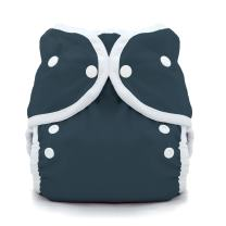 Thirsties Duo Wrap Cloth Diaper Cover, Snap Closure, Midnight Blue Size One (6-18 lbs)