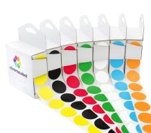 ChromaLabel Standard Color-Code Dot Label Kit | 7 Assorted Colors | 1,000/Dispenser Box (1 inch)