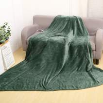 """Heated Blanket 74""""x84""""Full Size Electric Blanket Throws Fast Heating 9 Heating Levels 9 Hours Auto Off Full Body Warming ETL Certified Machine Washable Green"""