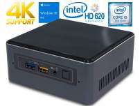 Intel NUC NUC7i5BNH Mini PC, Intel Core i5-7260U 2.2GHz, 8GB DDR4, 120GB NVMe SSD, Windows 10 Pro, WiFi, BT 4.2, HDMI, Thunderbolt 3, 4k Support, Dual Monitor Capable