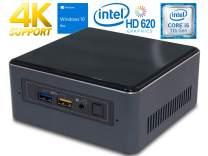 Intel NUC NUC7i5BNH Mini PC, Intel Core i5-7260U 2.2GHz, 4GB DDR4, 250GB NVMe SSD, Windows 10 Pro, WiFi, BT 4.2, HDMI, Thunderbolt 3, 4k Support, Dual Monitor Capable