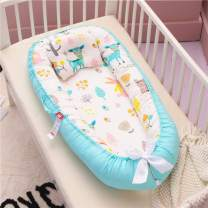 Abreeze Baby Bassinet for Bed Rabbit Baby Lounger Crib Breathable & Hypoallergenic Co-Sleeping Baby Bed 100% Cotton Portable Crib Pillow for Bedroom/Travel/Camping