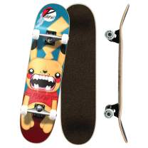 "Yocaher Punked Complete Skateboards 7.75"" or Mini Cruiser or Micro Cruiser Shapes - Pika, Candy, and Chimp Series"
