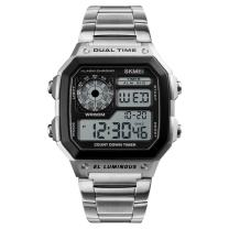 Bounabay Casual Classic Stainless Steel Quartz Digital Watch