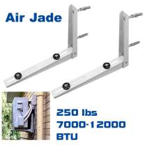 Air Jade Air Conditioner Support Bracket,Wall Mount Heavy Duty Foldable Design,for Mini-Split Ductless System Heat Pump Condensing Outdoor Unit,Support 7000 to 12000 BTU,Maximum 250 lbs