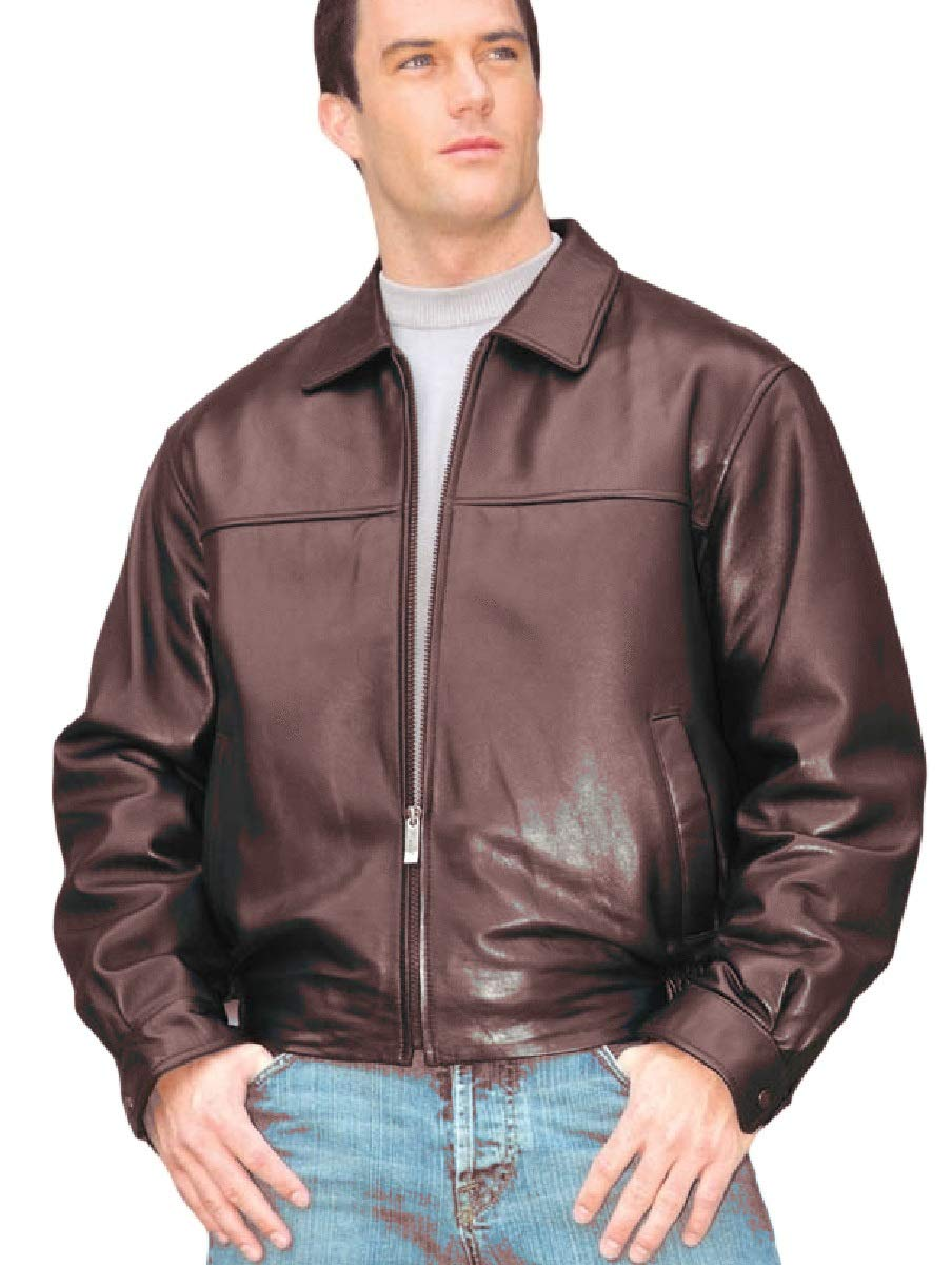 REED Men's New Zealand Lambskin Leather Jacket