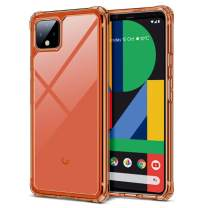 ESR Air Armor Clear Case for Pixel 4 XL Case, [Shock-Absorbing] [Scratch-Resistant] [Military Grade Protection] Hard PC + Flexible TPU Frame, for The The Google Pixel 4 XL (2019 Release), Orange