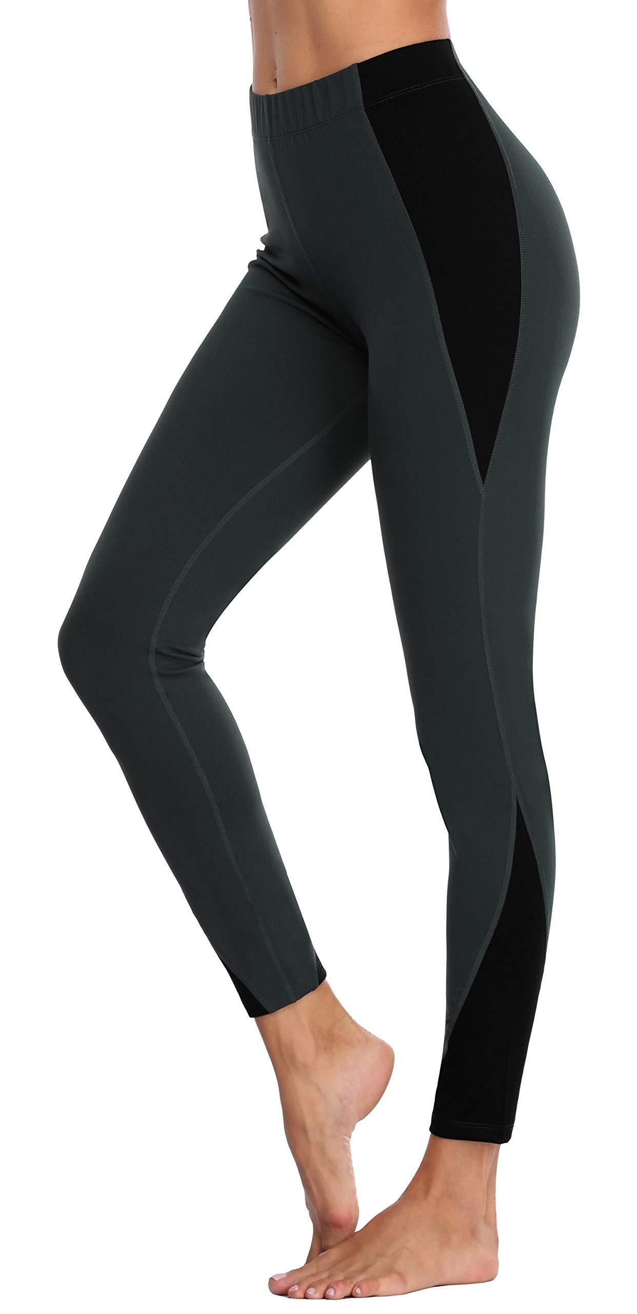 ATTRACO Womens High Waist Pockets Yoga Pants Running Pants Workout Leggings