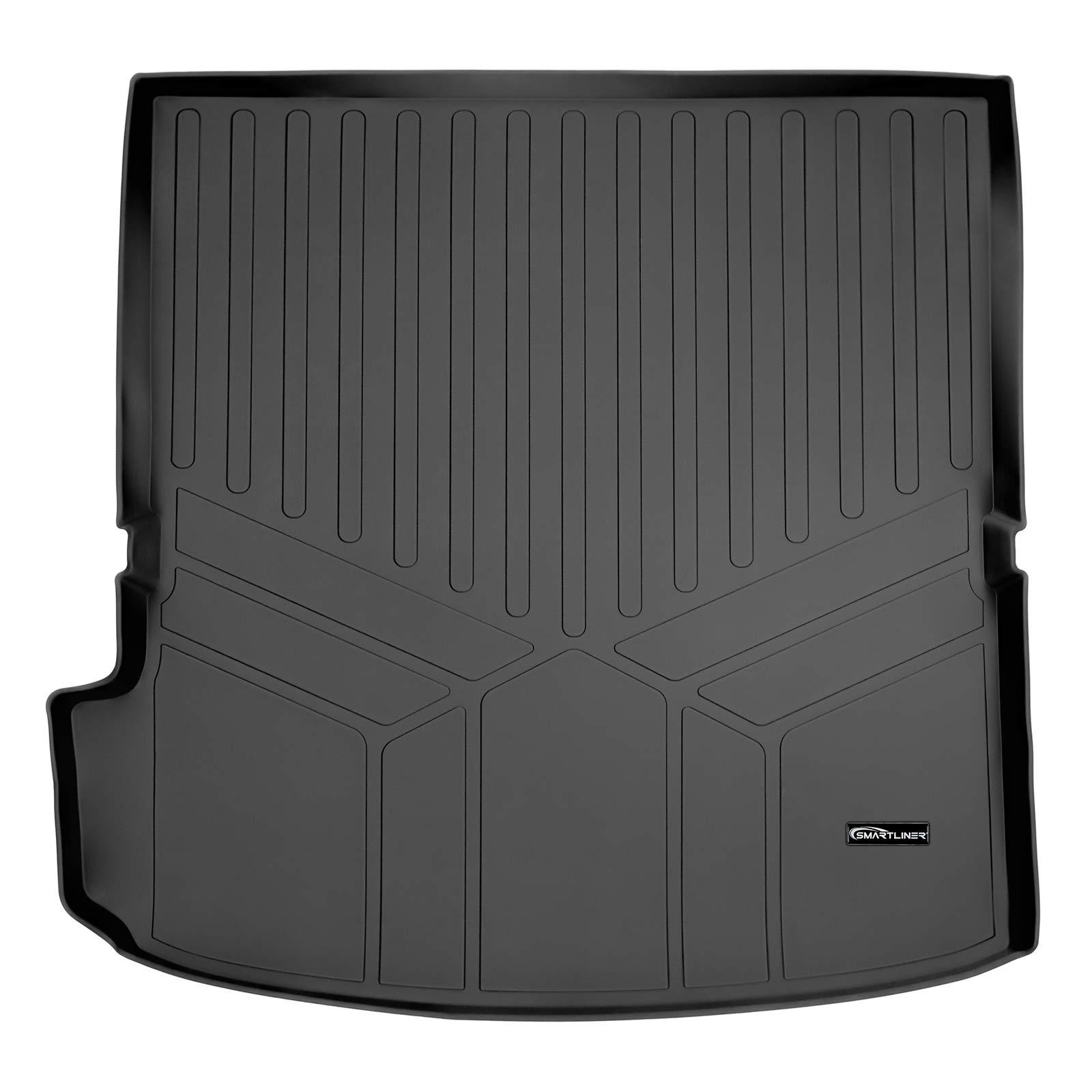 SMARTLINER All Weather Custom Fit Cargo Trunk Liner Floor Mat Behind 2nd Row Black for 2018-2020 Chevrolet Traverse