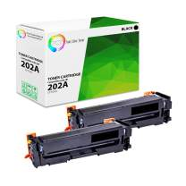 TCT Premium Compatible Toner Cartridge Replacement for HP 202A CF500A Black Works with HP Color Laserjet Pro MFP M280NW M254DW M281FDW Printers (1,400 Pages) - 2 Pack