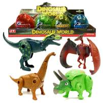 4 Pack Surprise Eggs Dinosaur Toys, Kids Dino Egg Transforming Dinosaur Toy, Jurrasic World Games Transformer Puzzle Basket Stuffers Dinosaurs Party Supplies, Birthday Party Favors