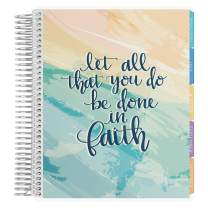Erin Condren 12 - Month 2020-2021 Faith Quote Coiled Life Planner with Layers Colorful Interior (July 2020 - June 2021) Vertical Weekly Layout. Organizer, Monthly Calendar Tabs and Stickers