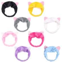 Vekola 8 Pack Spa-Headbands for Children Washing Face Elastic Hair Accessories
