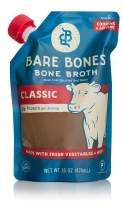 Bare Bones Beef Bone Broth for Cooking and Sipping, 100% Grass-Fed, Organic, Protein and Collagen Rich, Keto Friendly, 16 oz, Pack of 9