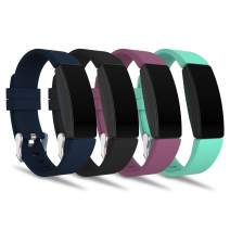 adepoy Compatible with Fitbit Inspire HR Bands for Women Men Large Small, Adjustable Replacement Wristbands for Fitbit Inspire/Inspire HR/Ace 2, 4 Pack