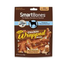 SmartBones Mini Chicken-Wrapped Sticks For Dogs With Real Peanut Butter, Rawhide-Free