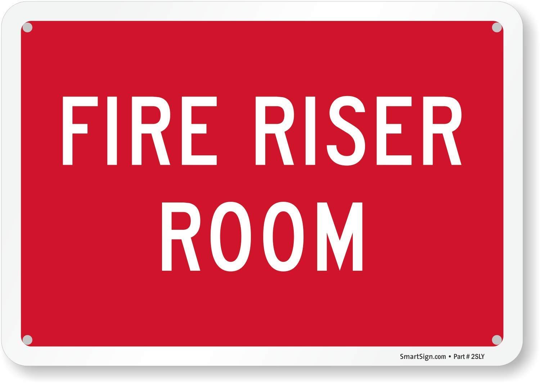 "SmartSign ""Fire Riser Room"" Sign   7"" x 10"" Aluminum"