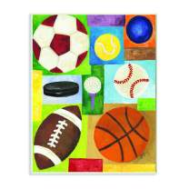 Stupell Industries Multi-Sport Rectangle Wall Plaque, 10 x 15, Multi-Color