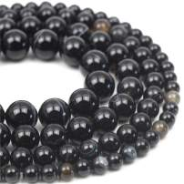 """Oameusa Natural Round 8mm Black Striped Agate Beads Gemstone Loose Beads Agate Beads for Jewelry Making 15"""" 1 Strand per Bag-Wholesale"""