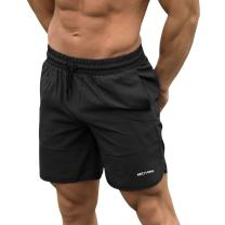 MECH-ENG Men's Dry Fit Workout Gym Bodybuilding Shorts with Pockets