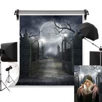 Kate 6.5x10ft/2m(W) x3m(H) Halloween Backdrops Full Moon Background Haunted House Backdrop Creepy Halloween Party Photography Studio Prop