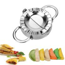 Dumpling Mold, Stainless Steel Dumpling Maker Wrapper Dough Cutter Pie Ravioli Dumpling Mould Kitchen Accessories, 9.5 cm(3.8'')