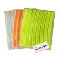 Salzmann 3M Reflective Bike Stickers in 3 colours: Perfect for Wheel Rims & Helmets (24 pcs).