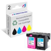 HOTCOLOR 2 Pack 662XL (1 Black 1 Color) Replacement for HP 662XL HP 662 XL Ink Cartridge Deskjet Ink Advantage 2545 2546 2645 2646 3515 3516 Printer (CZ105AL/CZ106AL)