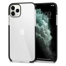 CUSTYPE Compatible with iPhone 11 Pro Max Case, Clear iPhone 11 Pro Max Case Phone Cover Soft TPU Ultra Slim Shockproof Anti-Scratch Protective Bumper Case for iPhone 11 Pro Max 6.5 inch - Clear Black