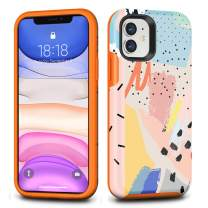 CAFEWICH iPhone 11 Case, Hybrid Shockproof Hard PC+ Soft TPE Flexible Rubber Drop Protection, Cute Pretty Stylish Slim Protective Cover for 2019 iPhone 11 6.1 Inch-Graffiti Art