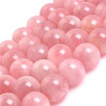 "JOE FOREMAN Madagascar Rose Quartz Crystal Beads for Jewelry Making Natural Gemstone Semi Precious 10mm Round Grade 15"""