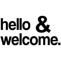 My Vinyl Story Hello and Welcome Office Decor Wall Art Wall Decal Inspirational Motivational Vinyl Office Supplies Home Gym Work Success Wall Sticker Teamwork Welcome Quote Business Sign Gift Large