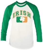 Arvilhill St Patrick's Day Men's Irish Green Long Sleeve Raglan Shirt