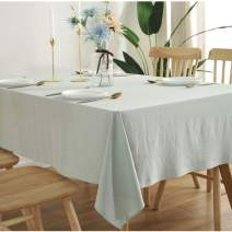 Bringsine Washable Cotton Linen Solid Design Tablecloth,Rectangle Table Cloth Cover for Kitchen Dinning Tabletop Buffet Decoration(Rectangle/Oblong, 55 x 86 Inch,Sage Green)