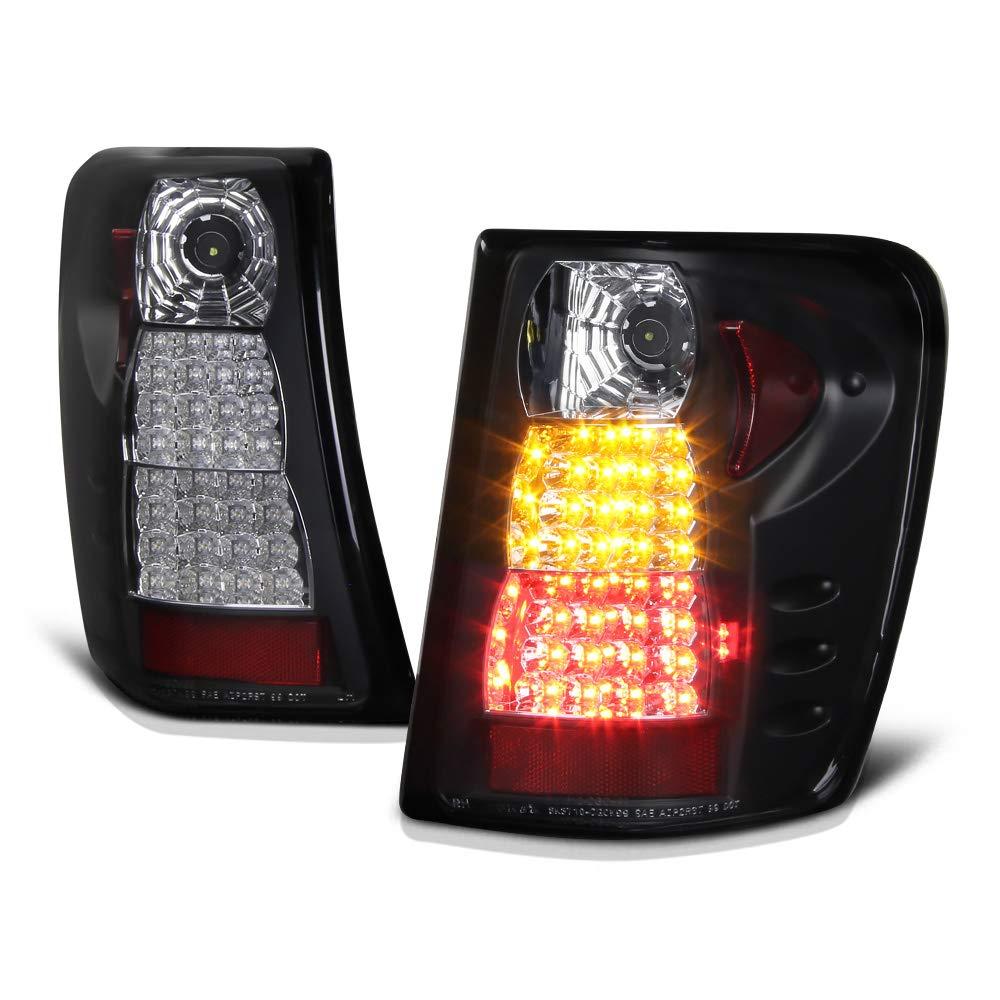 [For 1999-2004 Jeep Grand Cherokee] VIPMOTOZ Premium LED Tail Light Lamp - Black Housing, Driver and Passenger Side