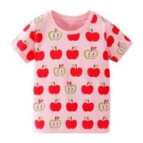 Toddler Girls T-Shirt Short Sleeve Shirt Unicorn Print Cotton Summer Tops Tees Shark Graphic